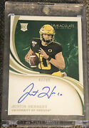 2020 Panini Immaculate Justin Herbert On Card Auto /99 Oregon--chargers Rookie