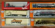 Ho Lot Of 6 = Truck And 5 Tractors + Trailers Con-cor 30th/rt66 And Herpa New Rare