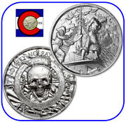 Silver Privateer Plank 2 Oz Uhr Round With Capsule