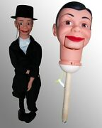 Charlie Mccarthy Upgraded Ventriloquist Dummy Doll Puppet + Free Gift