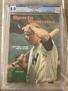 Sports Illustrated 1965 Newsstand Mickey Mantle Cgc 8.0 4th High Of 15 Graded