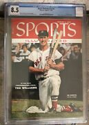 August 1 1955 Ted Williams Boston Red Sox Sports Illustrated Newsstand Cgc 8.5