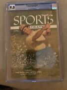 Sports Illustrated Newsstand 1956 Sam Snead Cgc 9.0 2nd Of 4 Graded