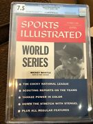 Sports Illustrated 1956 Newsstand Mickey Mantle Cgc 7.5 2nd Of 8 Graded