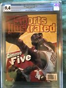 """Sports Illustrated Newsstand 1997 Michael Jordan """"gimme 5"""" Cgc 9.4 5th Of 11 Gr"""