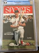 Sports Illustrated Newsstand 1955 Ted Williams Cgc 8.0