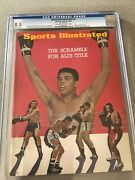 Sports Illustrated Newsstand Cgc 8.5 1967 Muhammad Ali Highest Graded By Cgc