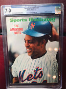Sports Illustrated Newsstand 1972 Willie Mays Cgc 7.0 1st Tie Of 4 Graded