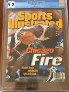Sports Illustrated Cgc 9.2 Newsstand 1996 Michael Jordan Andldquochicago Fireandrdquo 2nd Of 7