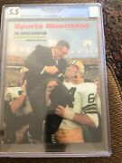 Sports Illustrated Newsstand 1968 Rare Vince Lombardi Cgc 5.5 Super Bowl 6th/6
