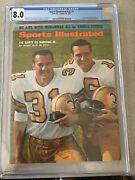 Sports Illustrated 1967 Newsstand Jim Taylor Hof Cgc 8.0 1st Of 1