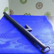 Jitte Jutte 32 Cm Japanese Traditional Weapon Iron Pole Used By Police Antique