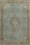 Geometric Semi-antique Traditional Area Rug Hand-knotted Wool Carpet 10x13 Ft