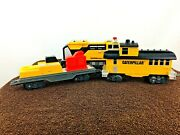 Toy State Cat Caterpillar Construction Express Toy Train Set Battery Working
