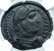 Valentinian I W Labarum And Victory 364ad Siliqua Old Silver Roman Coin Ngc I87709