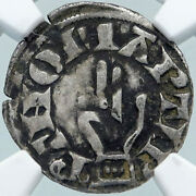1200ad France Archbishopric Besancon Old Silver Denier Medieval Ngc Coin I87710