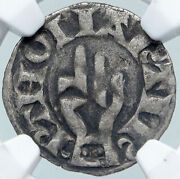 1200ad France Archbishopric Besancon Old Silver Denier Medieval Ngc Coin I87712