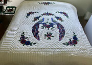 Amish Handmade Quilt For Sale Country Peacocks Amish Queen Quilt Amish King Quil