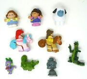 Vintage Fisher Price Little People Toy Lot Princess On Pony Mlp Spike And More