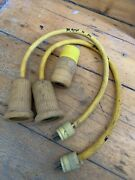 Pair Hubbell 30 Amp To 110 Pigtail Adaptor W/ Extra Marinco Component