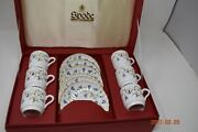 6 Spode Canterbury Fine Bone China Demitasse Cup And Saucer Sets In Gift Box
