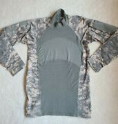 Us Army Team Soldier Combat Shirt Long Sleeve Camo Size Xs Elbow Pads