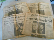 L@@k 4 Lot The Hartford Courant Newspaper 1963 Kennedy Assassination Issues