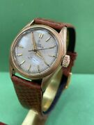 Vintage Rare Tudor Oyster 6466 Rose Gold P Automatic 29m Watch R1