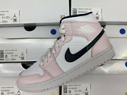 Air Jordan 1 Mid Women W Barely Rose Ds New Never Worn Cz0774-300 White Pink