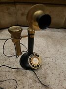 Gec Telephone Phone Made In England Vintage Antique Brass Candlestick