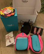 New In Box Limited Edition Pop Pink Neon Tieks Ballet Flats Shoes 8- Sold Out