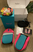 New In Box Limited Edition Pop Pink Neon Tieks Ballet Flats Shoes 10- Sold Out