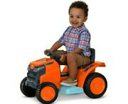 Mow And Go Lawn Mower 6-volt Ride-on Toy Kid Trax 18 -30 Months Orange Toddler New