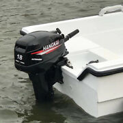 2 Stroke 18hp Outboard Motor Fishing Boat Engine W/water Cooling Sys.13200w Used