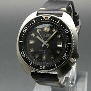 Seiko 6105-8110 Vintage Overhaul 2nd Diver Rare Automatic Mens Watch Auth Works