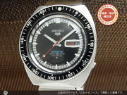 Seiko 5 Sports 6106-8120 Vintage Day Date Black 25 Jewels Automatic Mens Watch