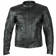 Xelement B7209 And039renegadeand039 Menand039s Black Leather Motorcycle Jacket With X-armor