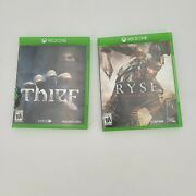 Ryse Son Of Rome And Thief Games Xbox One Lot Of 2