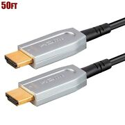50ft Hdr Hdmi 2.0 Cable Optical System 4k@60hz 1080p 18gbps Hdcp 2.2 Tv Ps4 Xbox