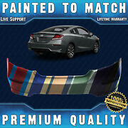 New Painted To Match - Rear Bumper Cover Fascia For 2014 2015 Honda Civic Coupe