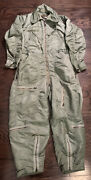 Vintage Usaf Coverall Flying Type Cwu-1p Mens Size Large Long Insulated Rare Vtg
