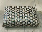 Egyptian Handmade Wood Jewelry Box Inlaid Mother Of Pearl 12x8