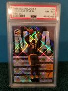 Shaquille Oand039neal Psa 1999 Ud Hologrfx Refractor Nba 24-7 N5 Insert Card Lakers