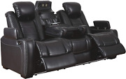 Signature Design By Ashley Party Time, Sofa, Black