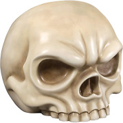 Design Toscano Lost Souls Gothic Skull Sculptural Chair White