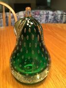Vintage Murano Controlled Bubble Glass Pear Paperweight
