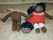 African American Vintage Cabbage Patch Dolls Kids Lot Toys