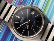 Seiko 5619-7000 Vintage Rare Black Duotime Gmt Automatic Mens Watch Auth Works