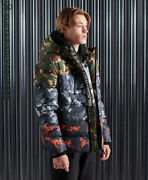 Superdry Mens Camo Mix Sports Puffer Jacket