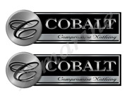 Two Cobalt Classic Stickers - 10 Long Each